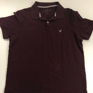 American Eagle Short Sleeve Dark Purple Polo XL